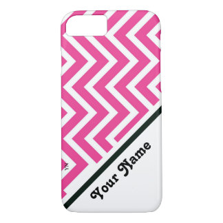 Pink zigzag iPhone 8/7 case