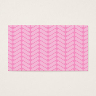 Pink Zigzag Pattern inspired by Knitting. Business Card