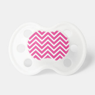 Pink Zigzag pattern Pacifier