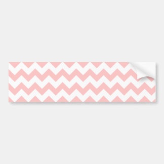 Pink Zigzag Stripes Chevron Pattern Girly Bumper Sticker