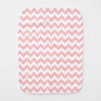 Pink Zigzag Stripes Chevron Pattern Girly Burp Cloth