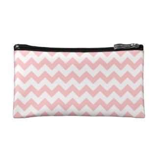 Pink Zigzag Stripes Chevron Pattern Girly Cosmetic Bags