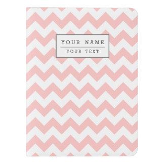 Pink Zigzag Stripes Chevron Pattern Girly Extra Large Moleskine Notebook