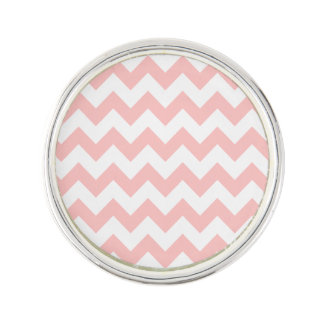Pink Zigzag Stripes Chevron Pattern Girly Lapel Pin