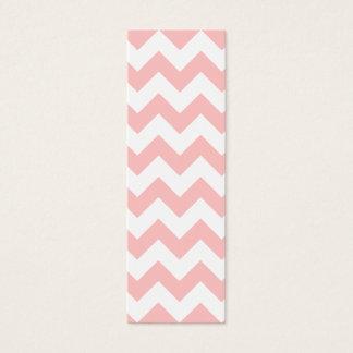 Pink Zigzag Stripes Chevron Pattern Girly Mini Business Card