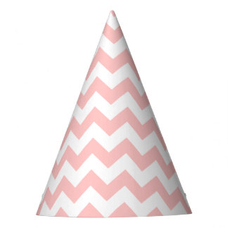 Pink Zigzag Stripes Chevron Pattern Girly Party Hat