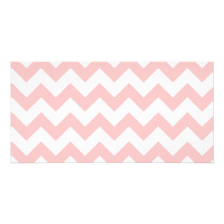 Pink Zigzag Stripes Chevron Pattern Girly Photo Card