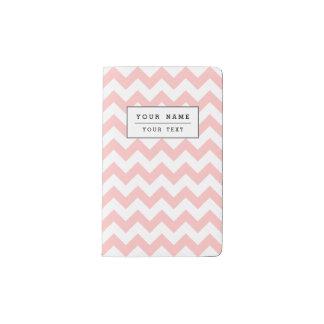 Pink Zigzag Stripes Chevron Pattern Girly Pocket Moleskine Notebook