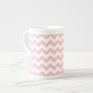 Pink Zigzag Stripes Chevron Pattern Girly Tea Cup
