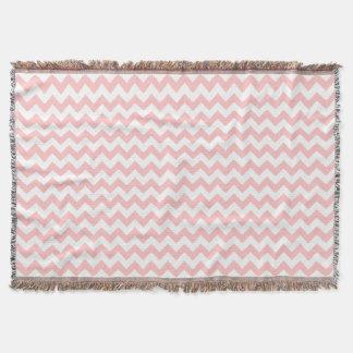 Pink Zigzag Stripes Chevron Pattern Girly Throw