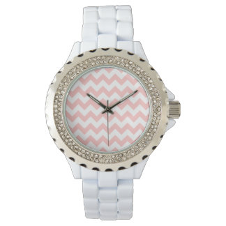Pink Zigzag Stripes Chevron Pattern Girly Watches