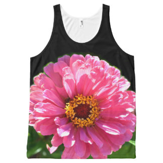 Pink zinnia All-Over-Print tank top