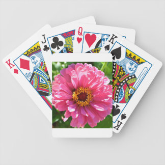 Pink Zinnia Bicycle Playing Cards