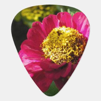 Pink Zinnia Guitar Pick