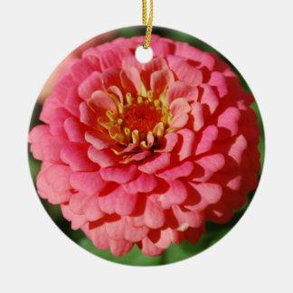 Pink Zinnia ornament