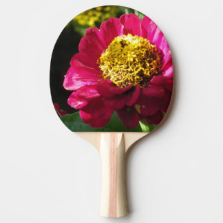 Pink Zinnia Ping Pong Paddle