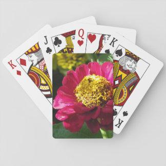 Pink Zinnia Playing Cards