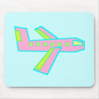 Pink Zooper Plane Mouse Pad