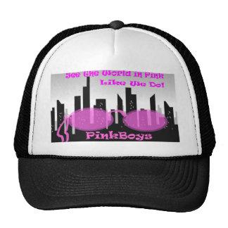PinkBoys Black Cap Trucker Hat