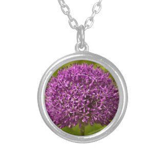 Pinkfarbener ALIUM Silver Plated Necklace