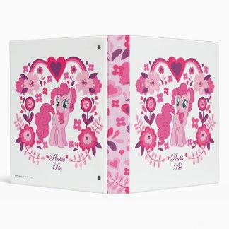 Pinkie Pie Floral Design Vinyl Binder