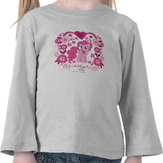 Pinkie Pie Floral Design Tee Shirts