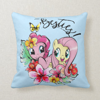 Pinkie Pie & Fluttershy | Besties Throw Pillow