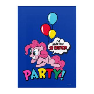 Pinkie Pie   Party! Acrylic Wall Art