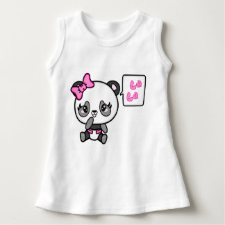 Pinkie Pinky Panda Baby Sleeveless Dress