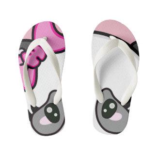 Pinkie Pinky Panda Flip Flops Eyes