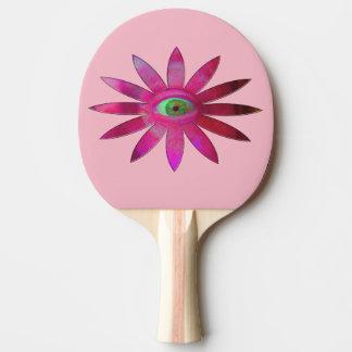 Pinkish Eye Flower Ping Pong Paddle