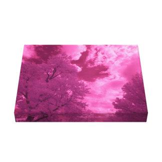 Pinkish Hues Infrared Cloud Canvas Print