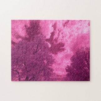Pinkish Hues Infrared Cloud Jigsaw Puzzle