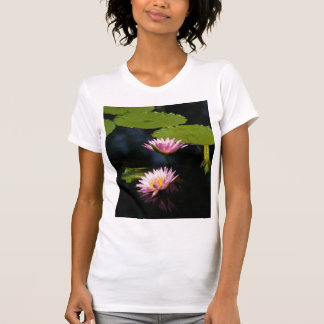 Pinkish Purple Lotus Waterlilies T Shirt