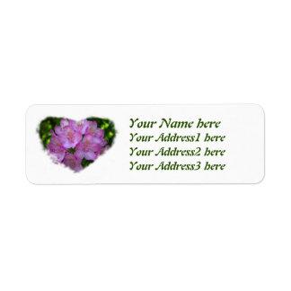 Pinkish purple Rhododendron Catawbiense Return Address Label