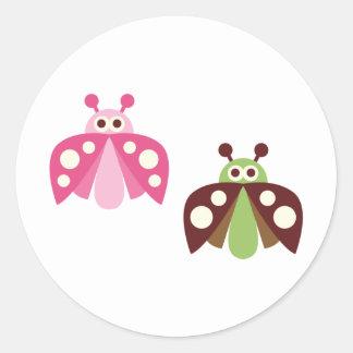 PinkLimeBugs4 Stickers