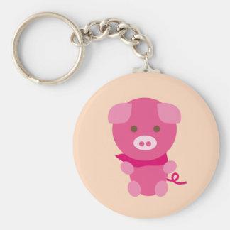 PinkPig6 Basic Round Button Keychain