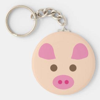 PinkPig9 Basic Round Button Keychain