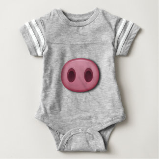 PinkPig Snout Baby Bodysuit