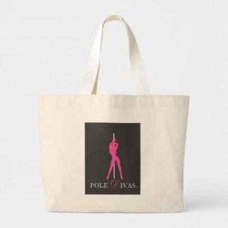 PinkPolePNG Large Tote Bag