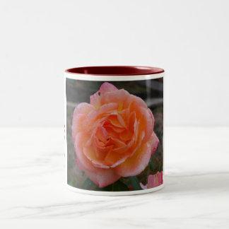 pinkrose, mom, I Love you Two-Tone Coffee Mug