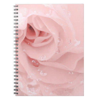 PinkRose with drops Notebook