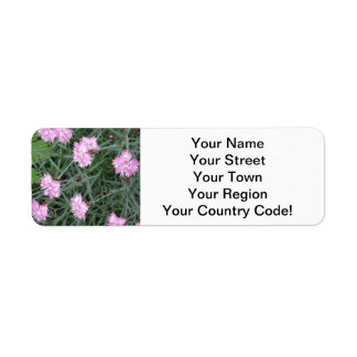 Pinks Flower Garden Return Address Label