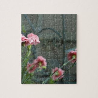 Pinks growing in a Cotswold Garden Jigsaw Puzzle