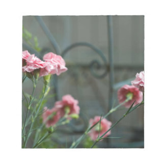 Pinks growing in a Cotswold Garden Notepad