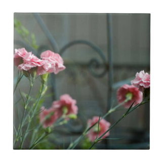 Pinks growing in a Cotswold Garden Tile