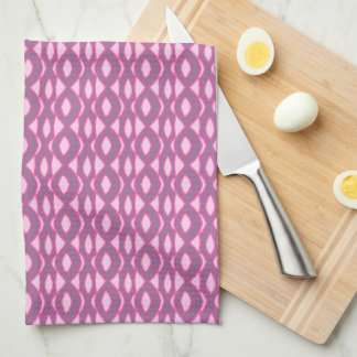 Pinks on Purple Abstract Hand Towels