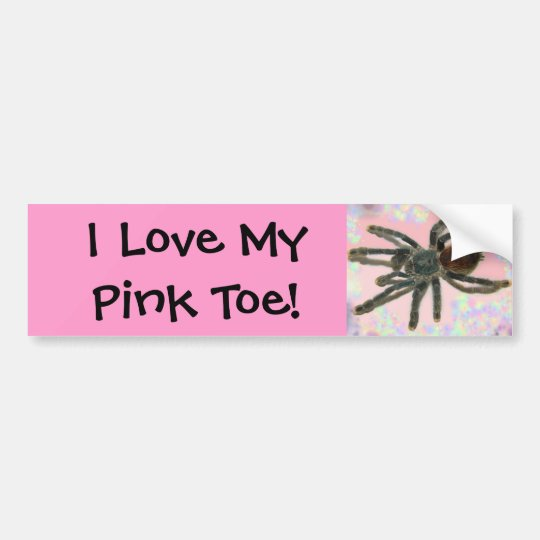 pinktoe bumper sticker