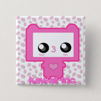 Pinku Mecha 2 Inch Square Button
