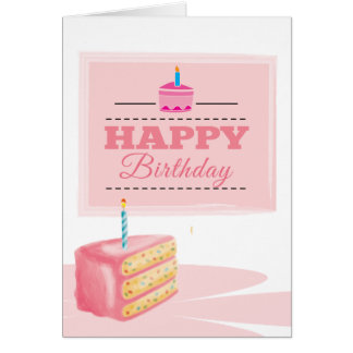 Pinky Birthday Card